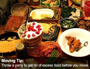 Atlanta Moving Tip: Throw a party to get rid of excess food before your move.